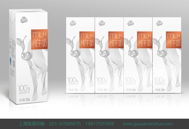 服务项目 > 彩色包装 > 上海彩色包装印刷-纯牛奶 - 项目背景